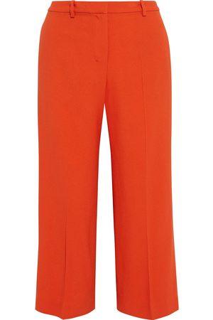 THEORY Women Wide Leg Pants - Woman Cropped Crepe Wide-leg Pants Bright Size 4