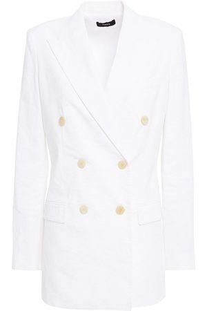 THEORY Women Blazers - Woman Double-breasted Linen-blend Blazer Size 2