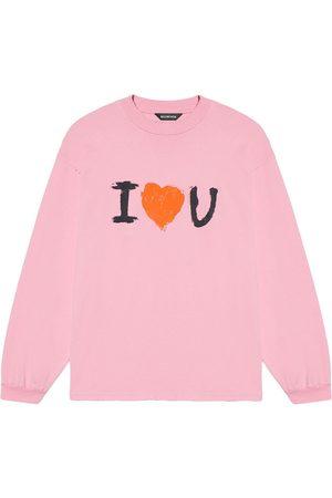 Balenciaga Men Sweatshirts - Slogan-print cotton sweatshirt