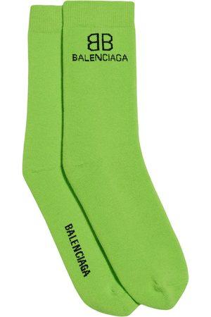 Balenciaga Logo-embroidered socks