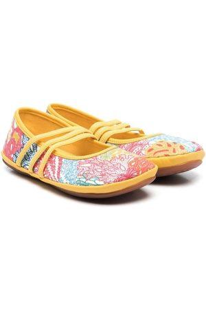 Camper Girls Ballerinas - Floral-print ballerina shoes