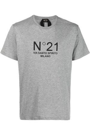 Nº21 Logo-print T-shirt - Grey