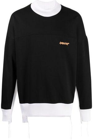 AMBUSH Two-tone logo-print sweatshirt