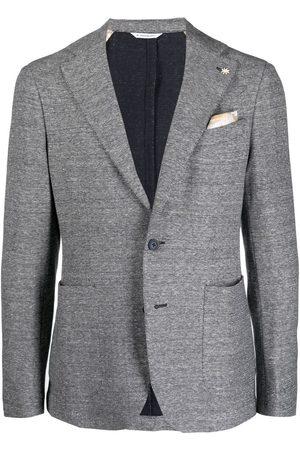 Manuel Ritz Men Blazers - Single-breasted jersey blazer