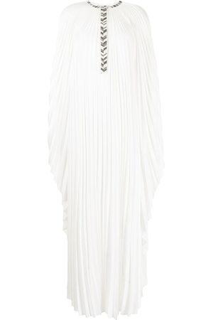 Semsem X Ramadan crystal-embellished plissé dress