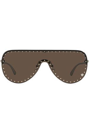 Versace Eyewear Sunglasses - Stud-detail shield-frame sunglasses