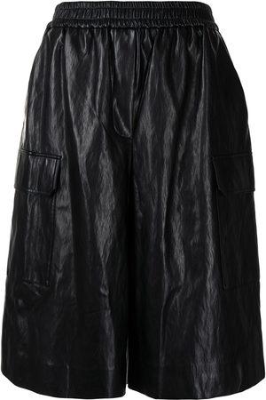 JUUN.J Women Shorts - Elasticated-waist leather shorts