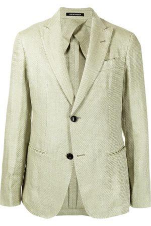 Emporio Armani Single-breasted textured linen blazer