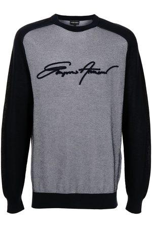 Emporio Armani Appliqué-logo cotton sweatshirt