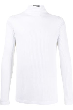 Emporio Armani Ribbed turtleneck jersey T-shirt