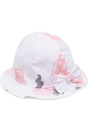 Emporio Armani Bow-detail cotton sun hat
