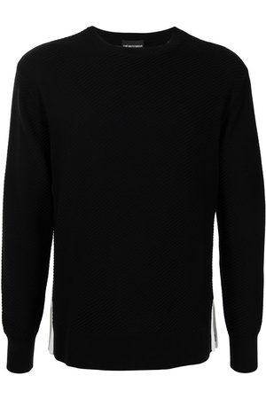Emporio Armani Men Sweatshirts - Striped cotton jumper