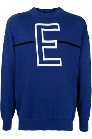 Emporio Armani Men Sweatshirts - Monogram-print cotton jumper