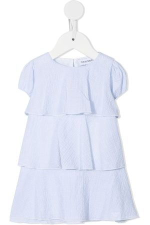 Emporio Armani Puff-sleeved tiered dress