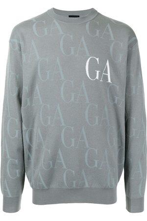 Armani Logo-print crew neck sweater - Grey
