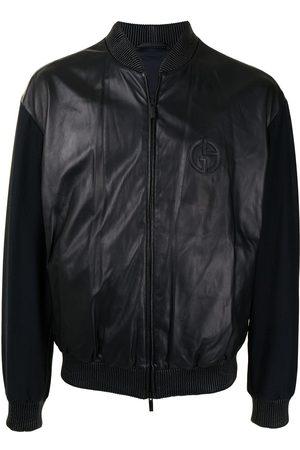 Armani Men Bomber Jackets - Contrast-sleeves bomber jacket