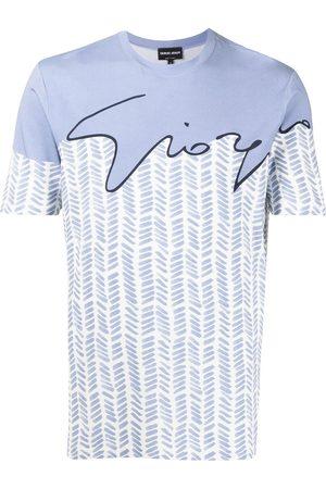 Armani Men Short Sleeve - Logo-print short-sleeved T-shirt