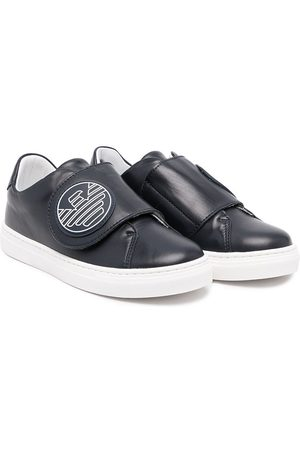 Emporio Armani Logo-patch touch-strap sneakers