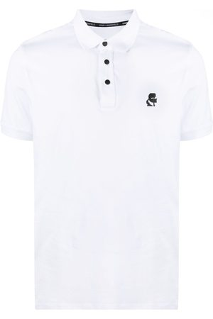 Karl Lagerfeld Logo-embroidered polo shirt