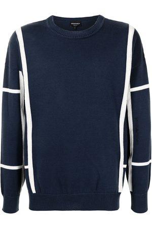 Emporio Armani Stripe-print knitted jumper