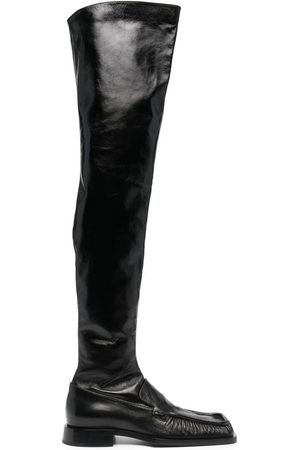 Jil Sander Square toe thigh-length boots