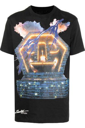 Philipp Plein T-shirts - Lightning logo building T-shirt