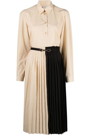 PORTS 1961 Women Casual Dresses - Two-tone shirt dress - Neutrals