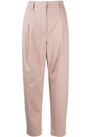 Brunello Cucinelli Women Straight Leg Pants - Cropped straight-leg trousers - Neutrals
