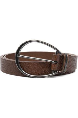 Brunello Cucinelli Women Belts - Leather buckle belt