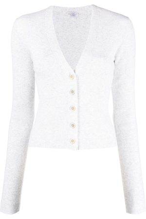 Brunello Cucinelli Ribbed knit cardigan - Neutrals