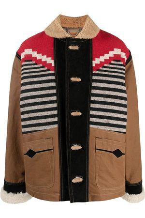 Diesel Colour-block duffle coat