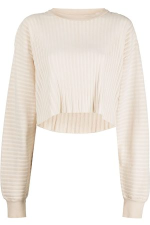JOHN ELLIOTT Ribbed terry-cloth cropped sweatshirt