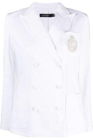 LAUREN RALPH LAUREN Double-breasted stretch-cotton blazer