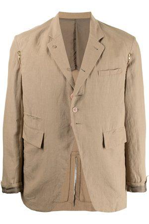 UNDERCOVER Men Blazers - Button-front linen blazer