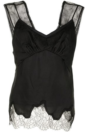GOEN.J Women Camisoles - Double-layered lace-trimmed camisole