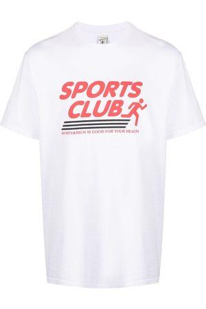 Sporty & Rich Slogan-print cotton T-shirt