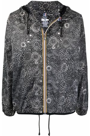 10 CORSO COMO X K-Way circle print raincoat
