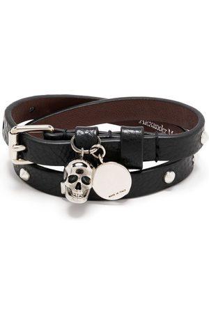 Alexander McQueen Men Bracelets - Skull charm wrap bracelet