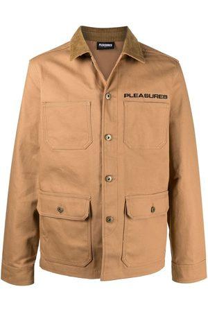 Pleasures Men Jackets - Graphic-print button-up jacket - Neutrals