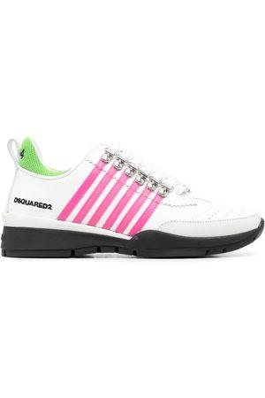 Dsquared2 Women Platform Sneakers - Wedge heel striped sneakers