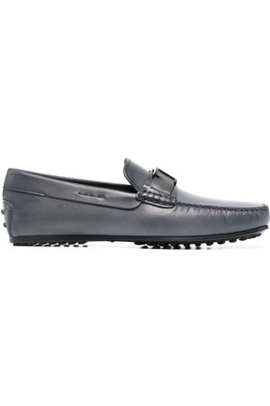 Tod's Men Loafers - Gommino logo-plaque loafers - Grey