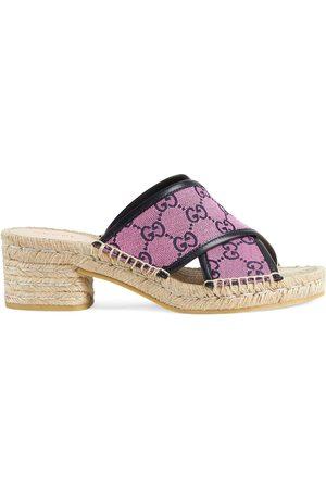 Gucci Women Espadrilles - GG Multicolor espadrille sandals