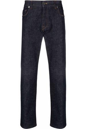 Fendi Men Slim - Raised-logo slim-fit jeans