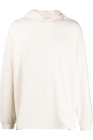 Y-3 Rear-logo print hoodie - Neutrals