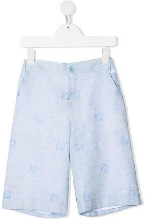 Fendi Logo-embroidered shorts