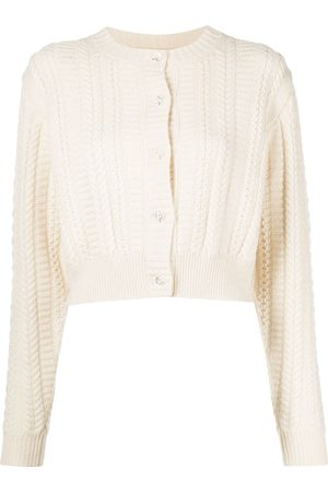 SANDY LIANG Shrunken cable-knit cardigan - Neutrals