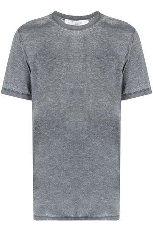 IRO Men Short Sleeve - Distressed short-sleeved T-shirt - Grey