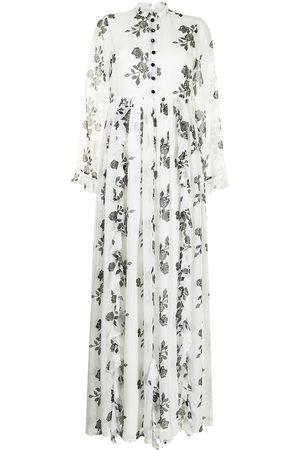 Macgraw Women Dresses - Rose ruffle trim long dress