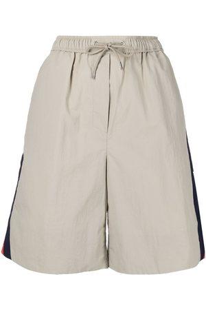 Kenzo Women Sports Shorts - Logo sport shorts - Neutrals