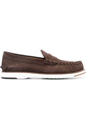 Tod's Men Loafers - Penny-bar suede loafers